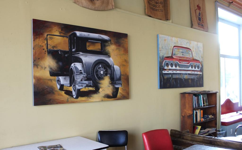 Cars at the Peekskill Coffee House 2014